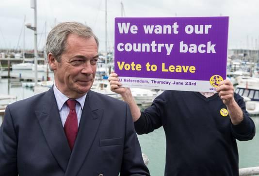 Voormalig UKIP-leider Nigel Farage.