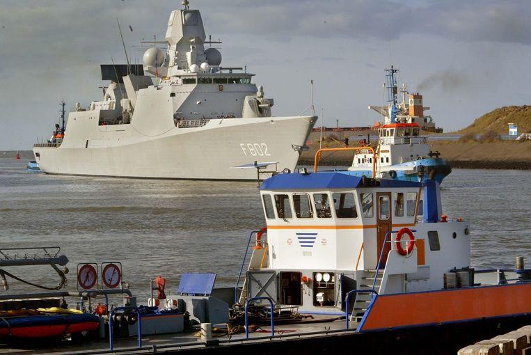 Momenteel is het Nederlandse fregat De Zeven Provinciën in de regio in het kader van de Navo-operatie Allied Protector. Foto ANP/Ed Oudenaarden Beeld