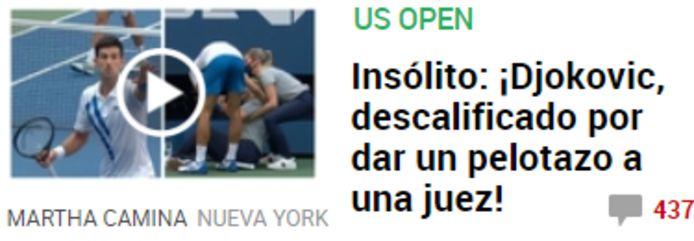 'Marca' over Djokovic