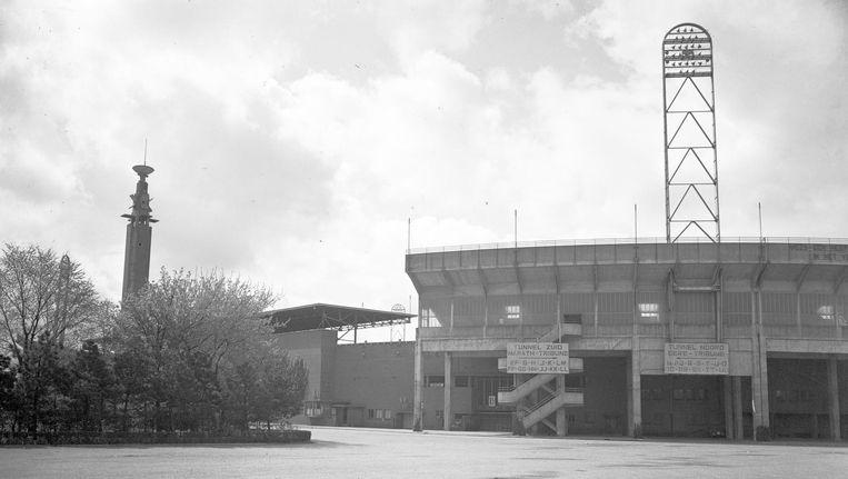 Beeld van het Olympisch Stadion. Het stadion werd gebouwd ter gelegenheid van de Olympische Zomerspelen van 1928. Beeld ANP