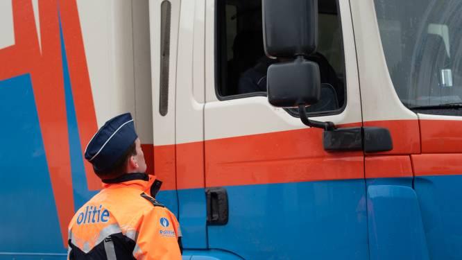 Politie int voor 3.443 euro boetes bij controle van vrachtwagens
