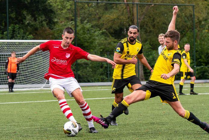 Jonge Kracht (hier tegen VVO) haalde lekker uit tegen Montferland.