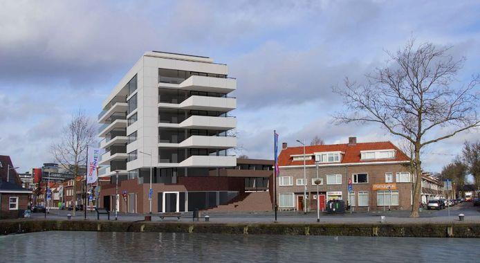 Het complex verbindt de Piushaven met de Koopvaardijstraat.