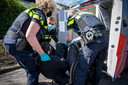 Nederland,  Boxtel, protest tegen varkenshandel en slachterijen met reden van dierenmishandeling en mogelijke oorzaak van corona.