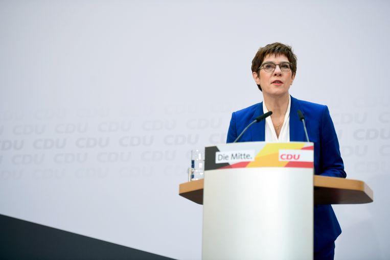 CDU-kopstuk Annegret Kramp-Karrenbauer. Beeld EPA