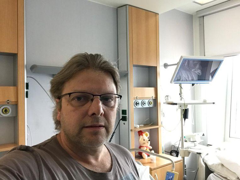 Johan Smets is een van de Belgen die uit Wuhan werd gerepatrieerd en onder quarantaine moest.