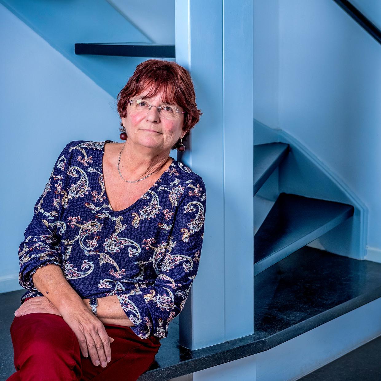 De afgetreden AOb-voorzitter Liesbeth Verheggen in haar huis in Diemen.