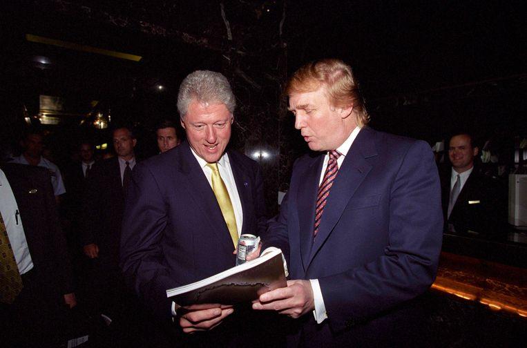 Trump in 2000 met ex-president Bill Clinton. Beeld REUTERS