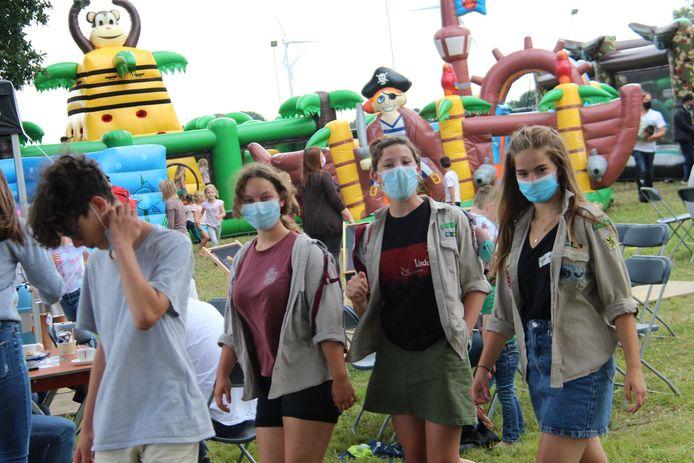 Ook in het kinderdorp wordt de mondmaskerplicht goed opgevolgd tijdens de Katse Feesten.