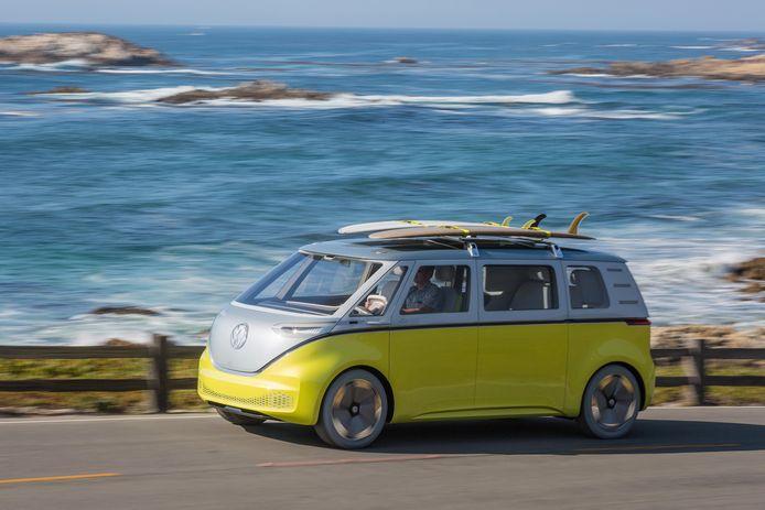 De Volkswagen I.D. Buzz.