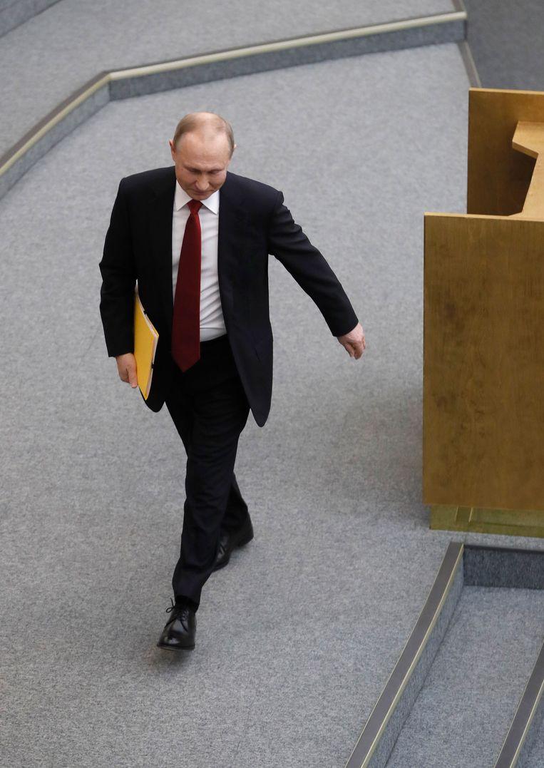 President Poetins positie is na gisteren nog sterker geworden. Beeld EPA