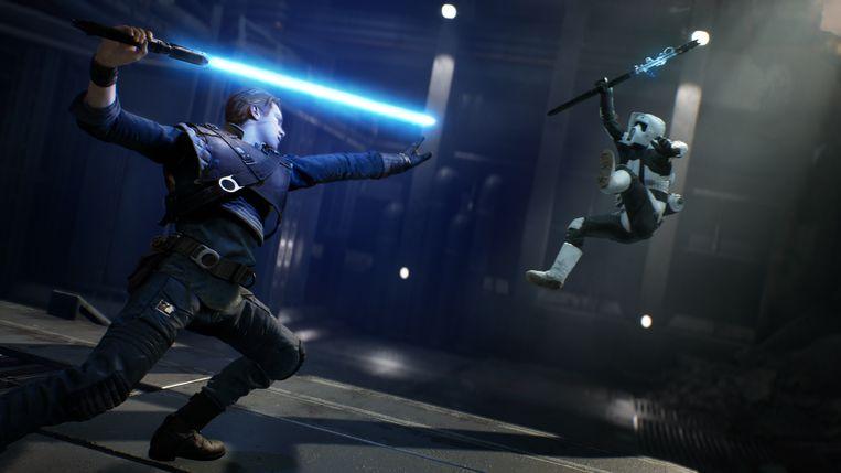 Flukse gevechten met het lichtzwaard en telekinetische Jeditrucs voeren de actie aan in 'Jedi: Fallen Order' Beeld EA