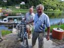Frans Lettinga met een 'renner' van de Toer de Frans.