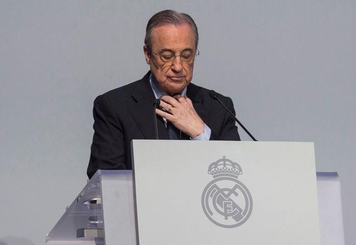 Real-voorzitter Florentino Perez, één van de stuwende krachten achter de Super League.
