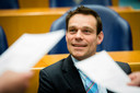 Martijn van Helvert (CDA) tijdens een debat in de Tweede Kamer.