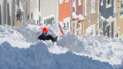 Leger ingezet en noodtoestand na extreme sneeuwstorm in Canada die alle records breekt