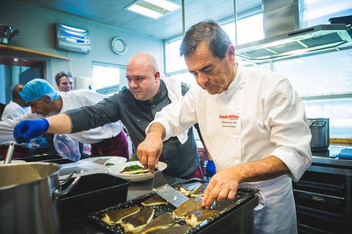 Chef Danny Horseele in actie.