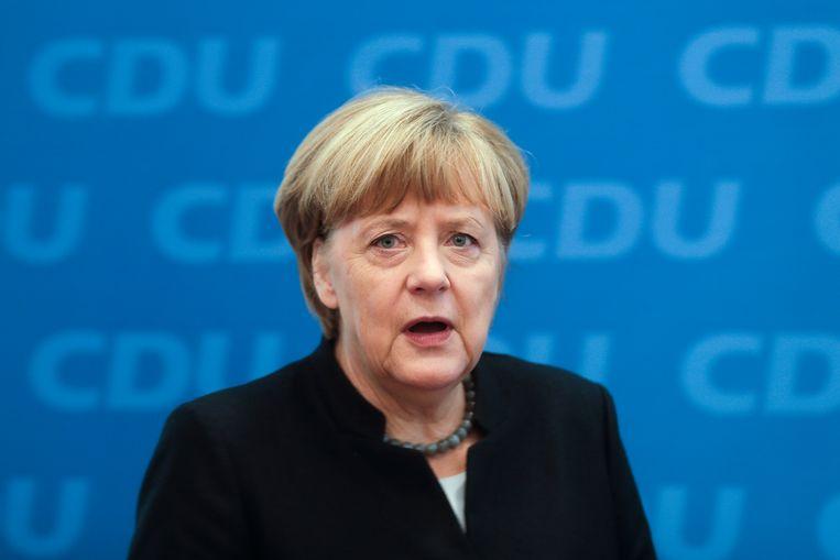 Duits bondskanselier Angela Merkel. Beeld AP