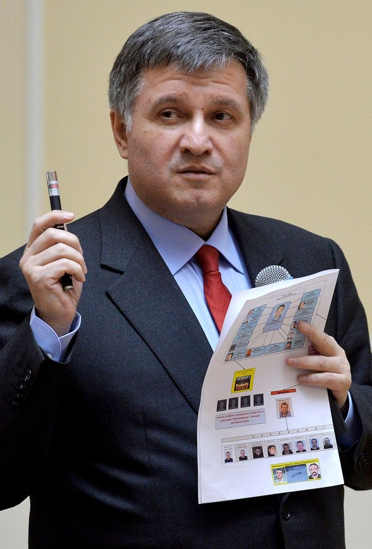 Oekraïens interimminister van Binnenlandse Zaken Arsen Avakov. Beeld BELGA