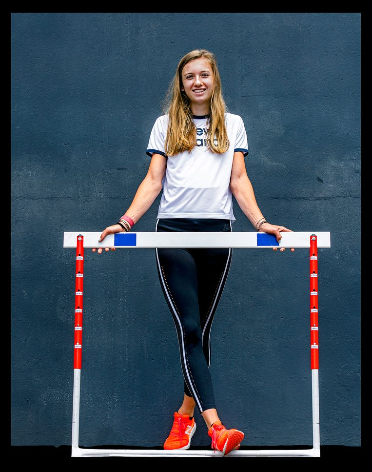 Femke Bol, specialist op de 400 meter horden.  Beeld Klaas Jan van der Weij
