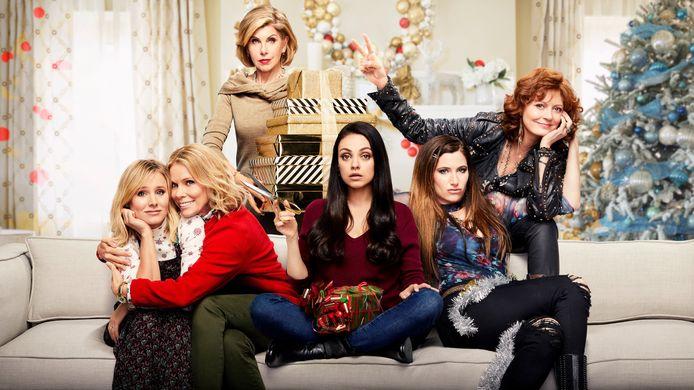 A Bad Moms Christmas met Kristen Bell (Kiki), Mila Kunis (Amy), Kathryn Hahn (Carla).
