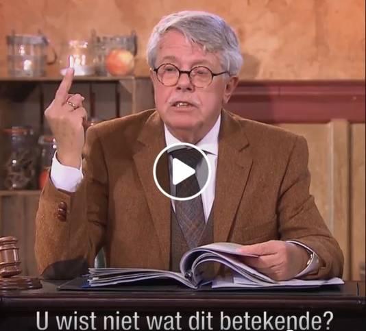 Fragment uit de uitzending van mr. Frank Visser doet uitspraak in Lienden.