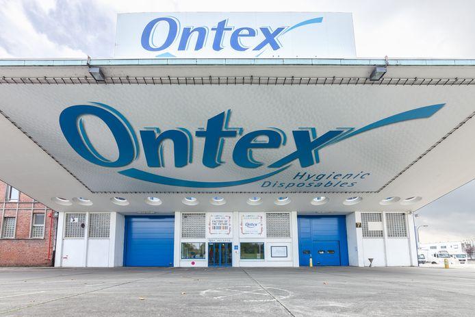 Het bedrijf Ontex in Eeklo.