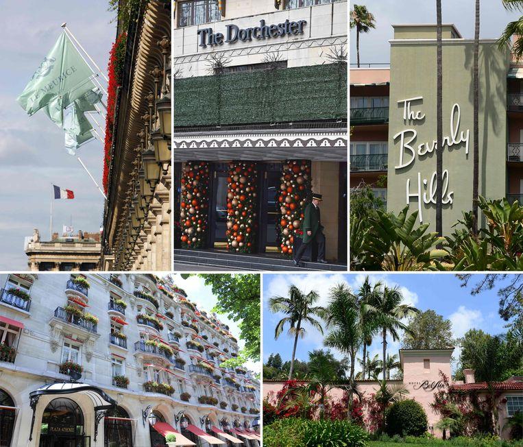 De sultan van Brunei is eigenaar van negen luxehotels die deel uitmaken van de Dorchester Collection, zoals Dorchester in Londen. Beeld AFP