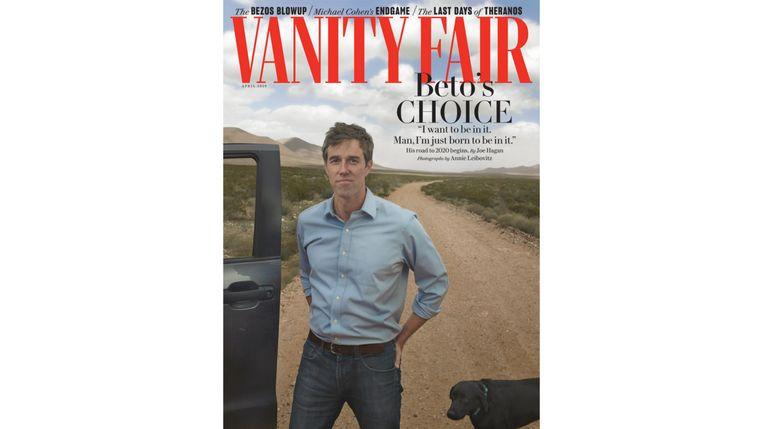 De cover van Vanity Fair met O'Rourke Beeld RV