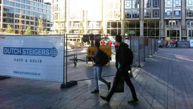 Stationsplein deels afgezet voor bouw supertrap