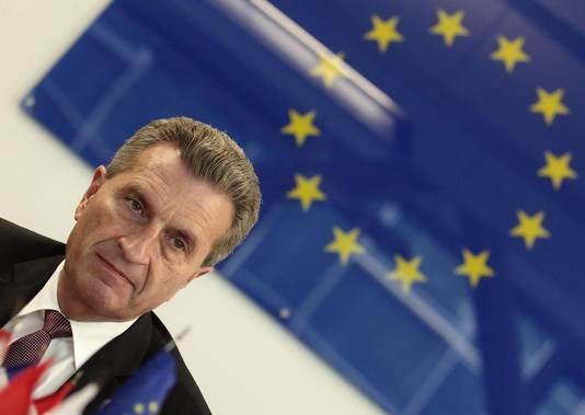 Günther Oettinger, commissaire européen à l'Énergie