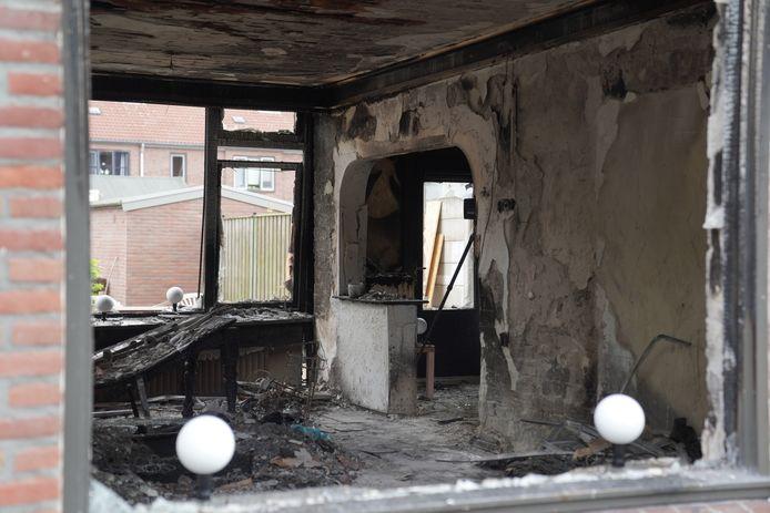 Enorme ravage in woning aan Moreelselaan in Eindhoven na aanslag.