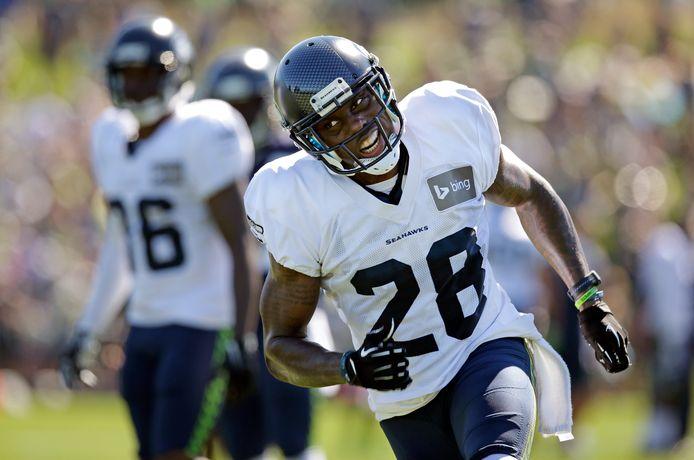 Phillip Adams in actie voor Seattle Seahawks.