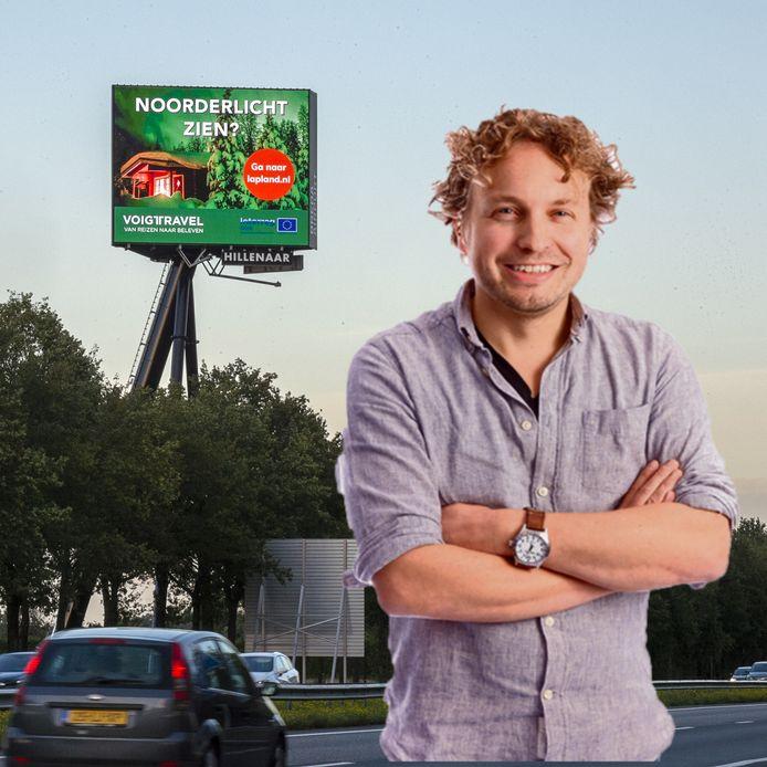 Zo'n reclamepaal als die bij Seppe, leidt die het verkeer niet enorm af, vraagt columnist Niels Herijgens zich af.