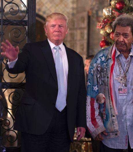 Ex-president Trump commentator bij boksduel Holyfield (58)