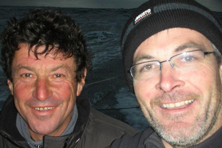 Jean Le Cam en Vincent Riou (AP) Beeld