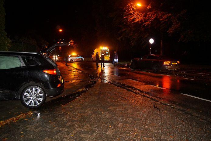 Botsing tussen twee auto's in Waalwijk