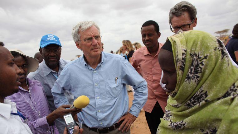 Staatssecretaris van ontwikkelingssamenwerking Ben Knapen op werkbezoek in Kenia. Beeld Getty Images