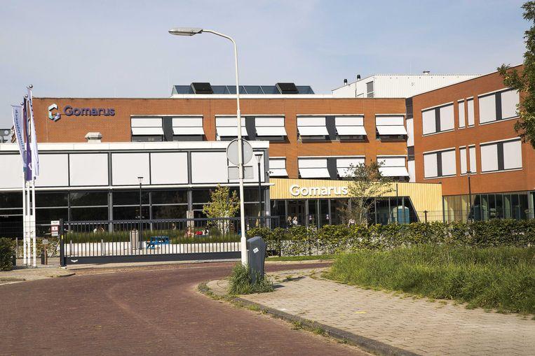 Exterieur van de reformatorische school Gomarus in Gorinchem. Leerlingen zouden hier zijn gedwongen hun homoseksualiteit aan hun ouders bekend te maken.  Beeld ANP
