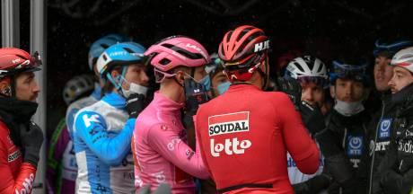 Langste etappe na protest van renners ingekort, Giro-baas Vegni woedend