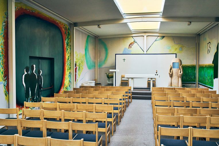 Een kapel in Machelen-aan-de-Leie.  Beeld Thomas Nolf