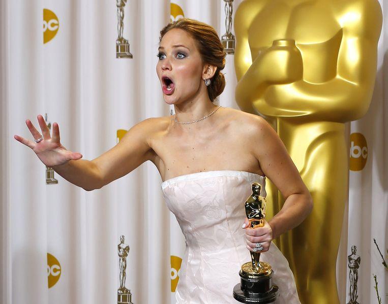 Jennifer Lawrence: Beste Actrice in Silver Linings Playbook. Beeld REUTERS