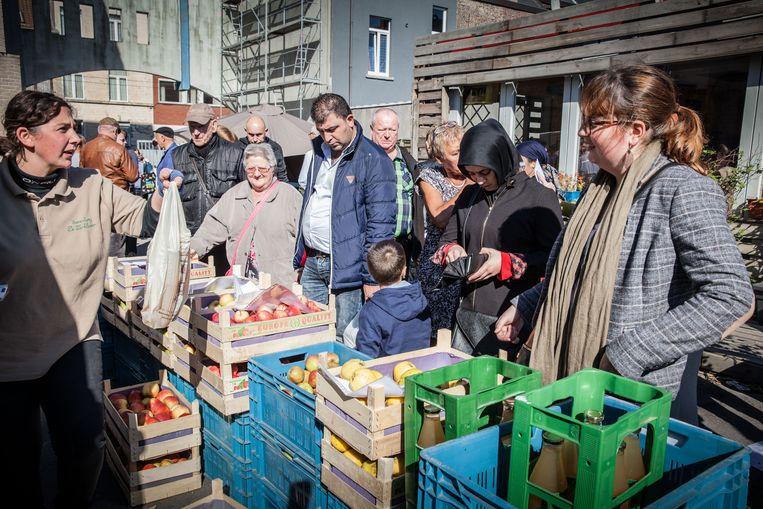 De boerenmarkt op de Standaertsite in Ledeberg.