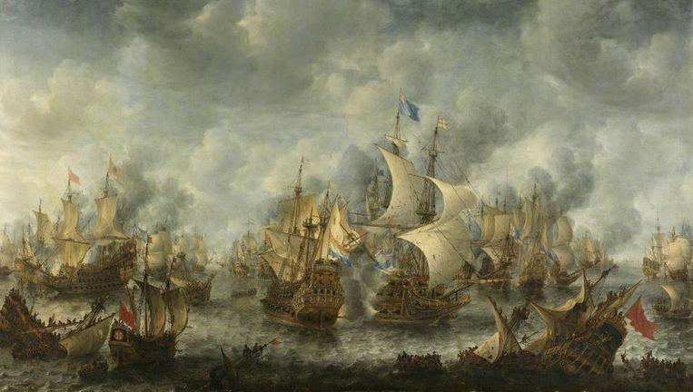 Slag bij Terheide door Jan Abrahamsz. Beerstraten. Beeld