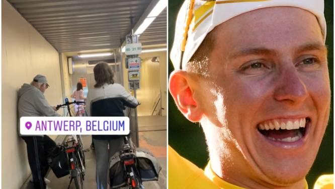 Tweevoudig Tourwinnaar of niet... Ook Tadej Pogačar moet aanschuiven aan de Antwerpse fietserstunnel