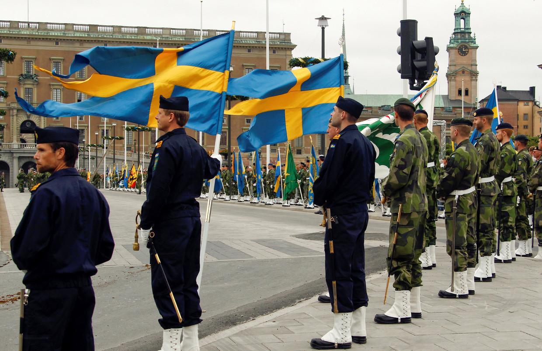 In 2018 is in Zweden de dienstplicht heringevoerd. Alle 18-jarigen krijgen een oproep, jaarlijks worden vijfduizend van hen geselecteerd voor de militaire dienst. Beeld Reuters
