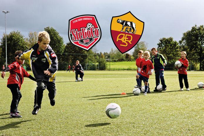 AS Roma houdt in augustus van 2020 een trainingskamp voor de jeugdvoetballers bij SteDoCo in Hoornaar.