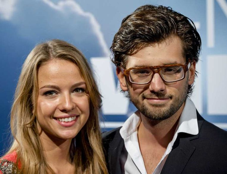 Ruud Feltkamp (R) met zijn vriendin. Beeld anp