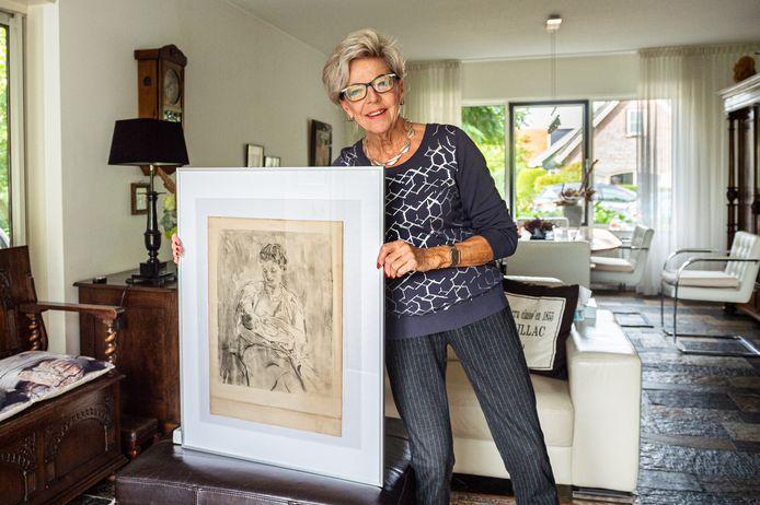 De Schoonhovense Tiny Elshof-Tervoort toont het historische werk van de vermaarde, in 1957 overleden kunstschilder Jan Sluijters.