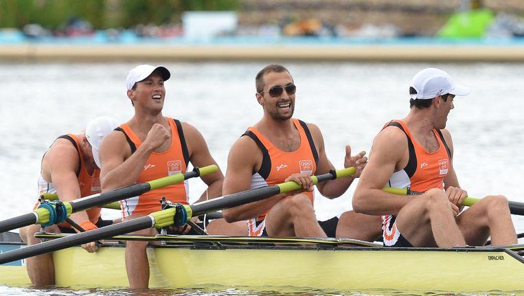 Boaz Meylink (tweede van links) tijdens de Olympische Spelen in 2012. Beeld anp